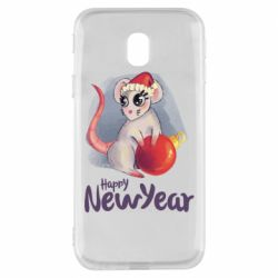 Чехол для Samsung J3 2017 Christmas ball mouse