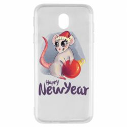 Чехол для Samsung J7 2017 Christmas ball mouse