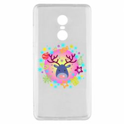 Чехол для Xiaomi Redmi Note 4x Christmas ball with a deer and decorations