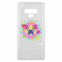 Чехол для Samsung Note 9 Christmas ball with a deer and decorations