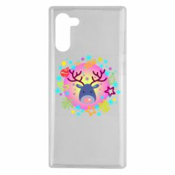 Чехол для Samsung Note 10 Christmas ball with a deer and decorations