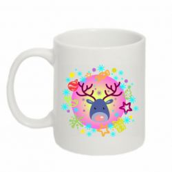 Кружка 320ml Christmas ball with a deer and decorations