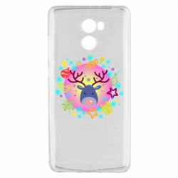 Чехол для Xiaomi Redmi 4 Christmas ball with a deer and decorations
