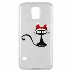 Чехол для Samsung S5 Christmas cat