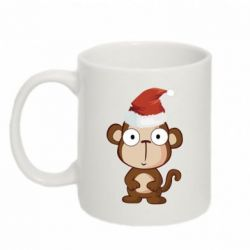 Кружка 320ml Christmas monkey - FatLine