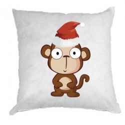 Подушка Christmas monkey - FatLine