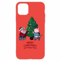 Чохол для iPhone 11 Pro Max Christmas pigs decorate spruce