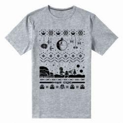 Чоловіча стрейчева футболка Christmas pixels, Star Wars