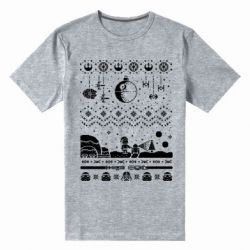 Мужская стрейчевая футболка Christmas pixels, Star Wars