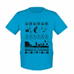 Детская футболка Christmas pixels, Star Wars