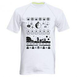 Чоловіча спортивна футболка Christmas pixels, Star Wars