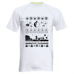 Мужская спортивная футболка Christmas pixels, Star Wars