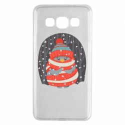 Чехол для Samsung A3 2015 Christmas Sweet Penguin