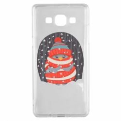 Чехол для Samsung A5 2015 Christmas Sweet Penguin