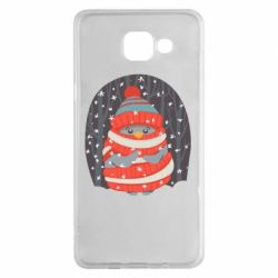 Чехол для Samsung A5 2016 Christmas Sweet Penguin