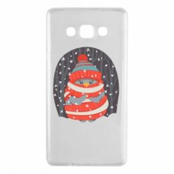 Чехол для Samsung A7 2015 Christmas Sweet Penguin