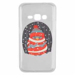 Чехол для Samsung J1 2016 Christmas Sweet Penguin
