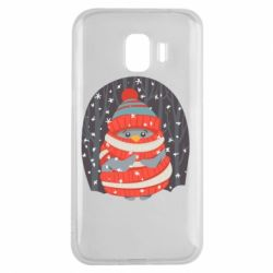 Чехол для Samsung J2 2018 Christmas Sweet Penguin