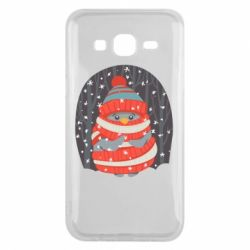 Чехол для Samsung J5 2015 Christmas Sweet Penguin