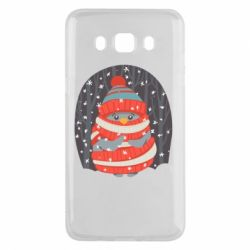 Чехол для Samsung J5 2016 Christmas Sweet Penguin