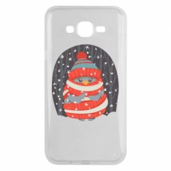 Чехол для Samsung J7 2015 Christmas Sweet Penguin