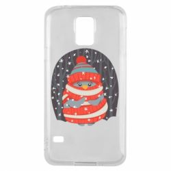 Чехол для Samsung S5 Christmas Sweet Penguin