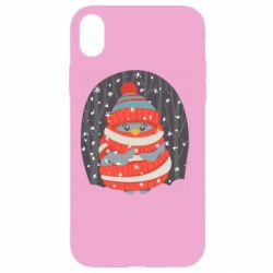 Чехол для iPhone XR Christmas Sweet Penguin