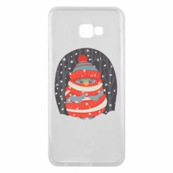 Чехол для Samsung J4 Plus 2018 Christmas Sweet Penguin