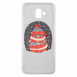 Чехол для Samsung J6 Plus 2018 Christmas Sweet Penguin
