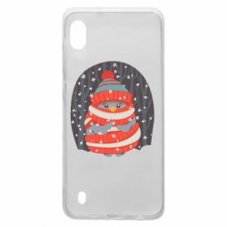 Чехол для Samsung A10 Christmas Sweet Penguin
