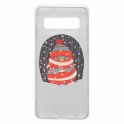 Чехол для Samsung S10 Christmas Sweet Penguin