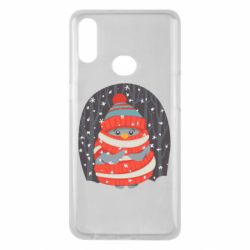 Чехол для Samsung A10s Christmas Sweet Penguin