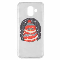 Чехол для Samsung A6 2018 Christmas Sweet Penguin