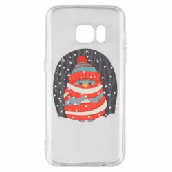 Чехол для Samsung S7 Christmas Sweet Penguin