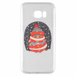 Чехол для Samsung S7 EDGE Christmas Sweet Penguin