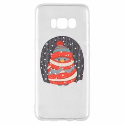 Чехол для Samsung S8 Christmas Sweet Penguin
