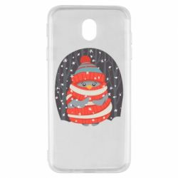 Чехол для Samsung J7 2017 Christmas Sweet Penguin