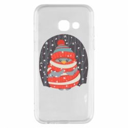 Чехол для Samsung A3 2017 Christmas Sweet Penguin
