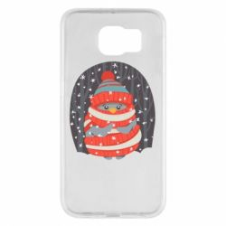 Чехол для Samsung S6 Christmas Sweet Penguin