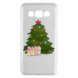 Чехол для Samsung A3 2015 Christmas tree and gifts art