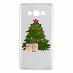 Чехол для Samsung A7 2015 Christmas tree and gifts art