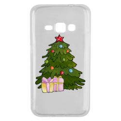 Чехол для Samsung J1 2016 Christmas tree and gifts art