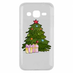 Чехол для Samsung J2 2015 Christmas tree and gifts art