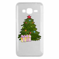 Чехол для Samsung J3 2016 Christmas tree and gifts art