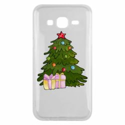 Чехол для Samsung J5 2015 Christmas tree and gifts art