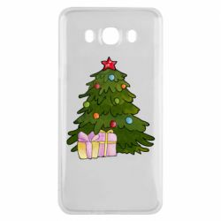 Чехол для Samsung J7 2016 Christmas tree and gifts art