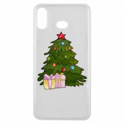 Чехол для Samsung A6s Christmas tree and gifts art