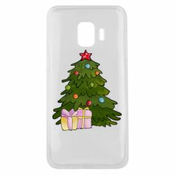 Чехол для Samsung J2 Core Christmas tree and gifts art