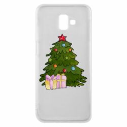 Чехол для Samsung J6 Plus 2018 Christmas tree and gifts art