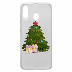 Чехол для Samsung A30 Christmas tree and gifts art